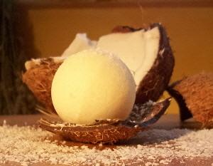 Badekugel Kokos